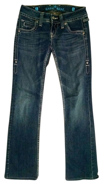 Sang Real Size 28 P1624 Boot Cut Jeans-Medium Wash