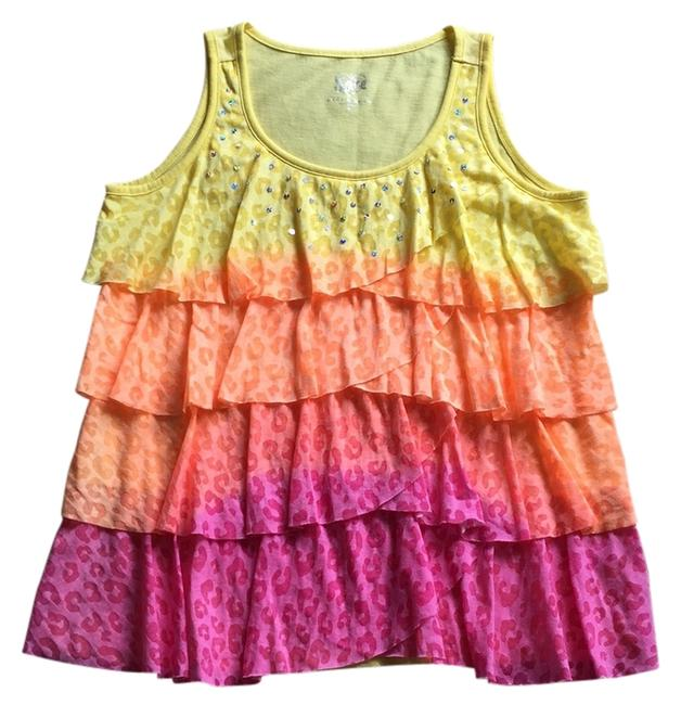 Justice Top Yellow, Orange, and Pink