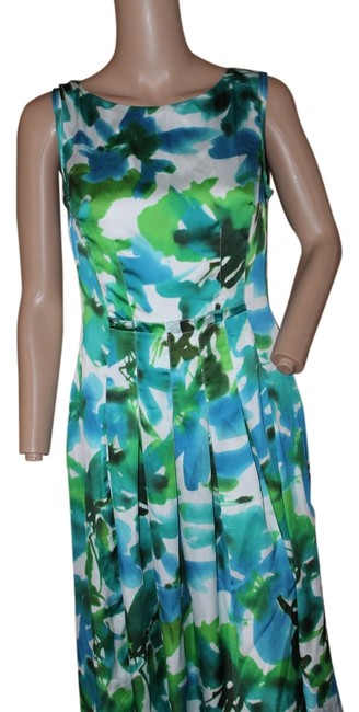 Preload https://item1.tradesy.com/images/jones-new-york-dress-bright-greens-and-blues-5288005-0-0.jpg?width=400&height=650
