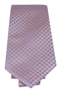 Louis Vuitton [GLOBAL] lvdsl20 Louis Vuitton Pink Silk Damier Tie