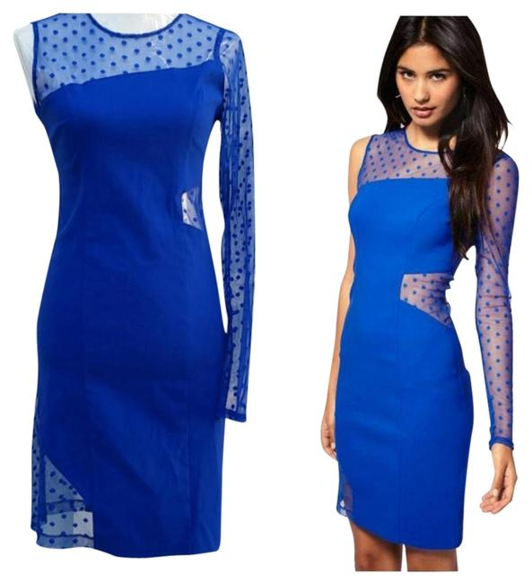 Preload https://item2.tradesy.com/images/asos-blue-dotted-mesh-above-knee-night-out-dress-size-8-m-5288371-0-0.jpg?width=400&height=650
