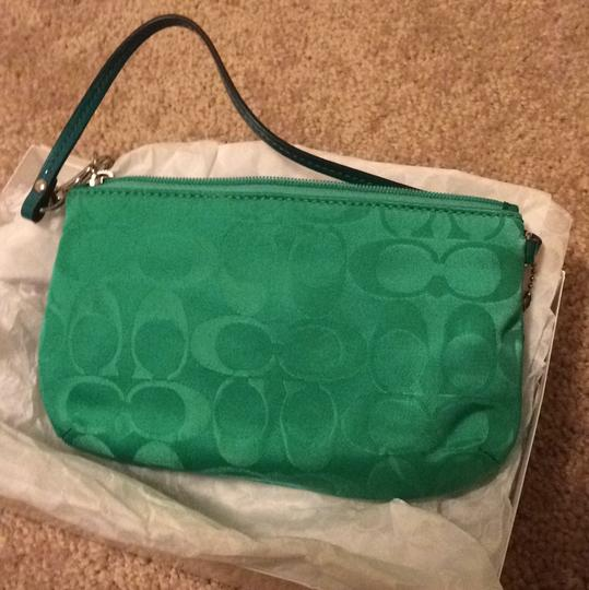 Coach Wristlet in Green