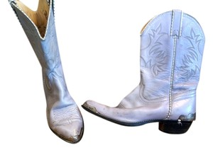 Rodeo Drive Cowboy Vintage Leather pale purple Boots