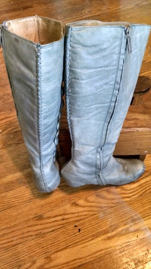 Terra Plana Leather Earth Friendly Vintage Inspired pale blue Boots