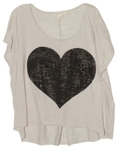 Forever 21 T Shirt Tan/Black