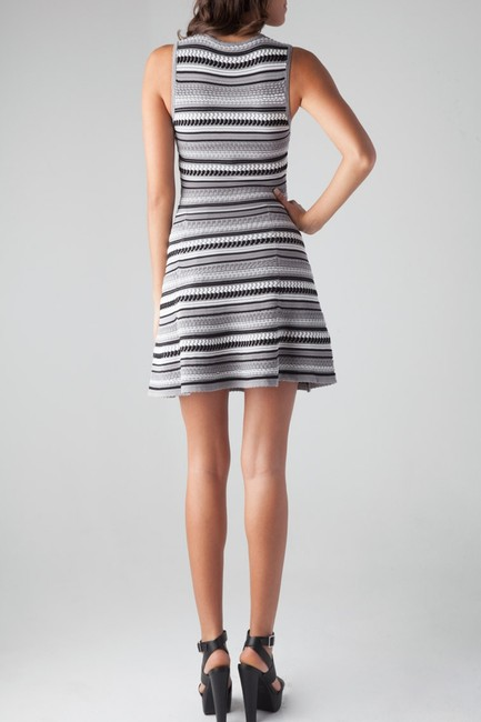 Torn by Ronny Kobo short dress Textured Striped Stretchy Bodycon Scalloped on Tradesy