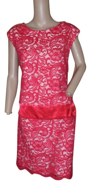 Preload https://item1.tradesy.com/images/fuschia-pink-and-nude-linning-lace-short-cocktail-dress-size-10-m-5289625-0-0.jpg?width=400&height=650