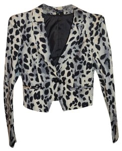 Love Culture Black and Gray Leopard Blazer