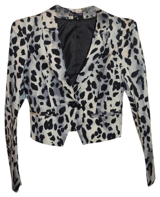 Love Culture Jacket Print Jacket Black and Gray Leopard Blazer