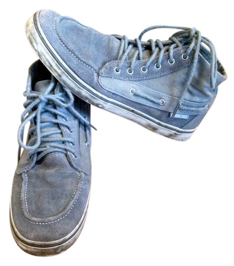 Cherokee Leather Canvas Boat High Top grey Athletic