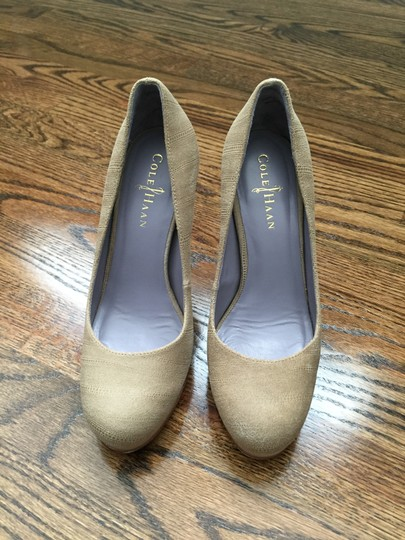 Cole Haan Stamped Leather Sexy Light Cove Pumps