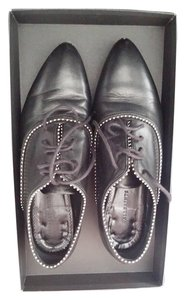 AllSaints Studded Leather Oxford black Flats