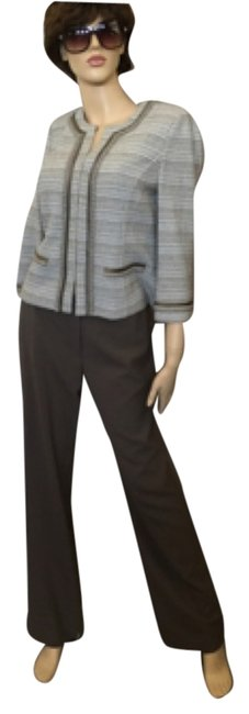 Preload https://item5.tradesy.com/images/st-john-taupe-pantsuit-with-taupe-pants-and-short-satin-trimmed-jacket-2pc-size-8-m-5289949-0-0.jpg?width=400&height=650