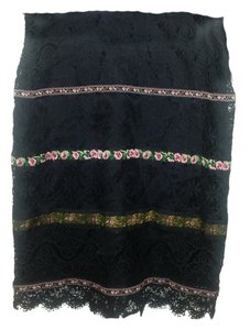 Nanette Lepore Mini Skirt Black and multi coloured