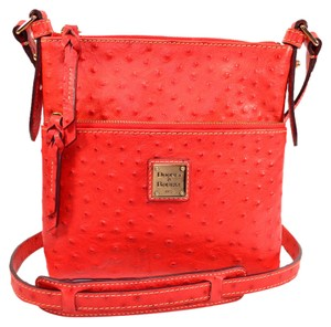 Dooney & Bourke Ostrich Embossed Leather Cross Body Bag