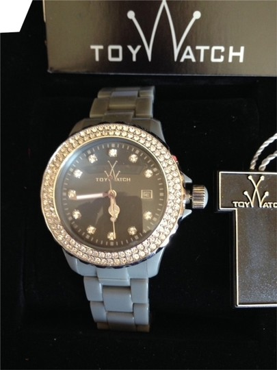 Preload https://item2.tradesy.com/images/toywatch-gray-silicone-bracelet-and-face-new-swarovski-elements-bezel-dial-watch-529036-0-1.jpg?width=440&height=440