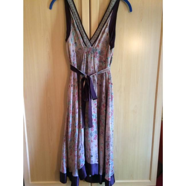 Plum, lilac, aqua, hot pink, navy Maxi Dress by BCBGMAXAZRIA