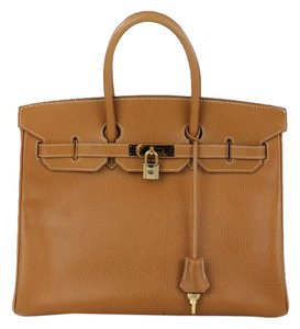Hermès Hermes Birkin Camel Leather Satchel
