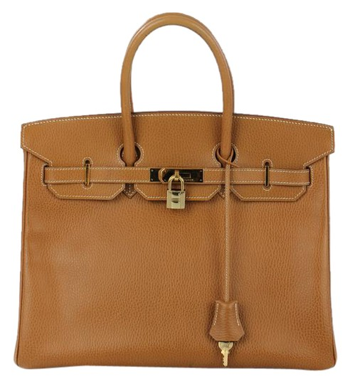 Hermès Birkin Camel Leather Handbag Satchel