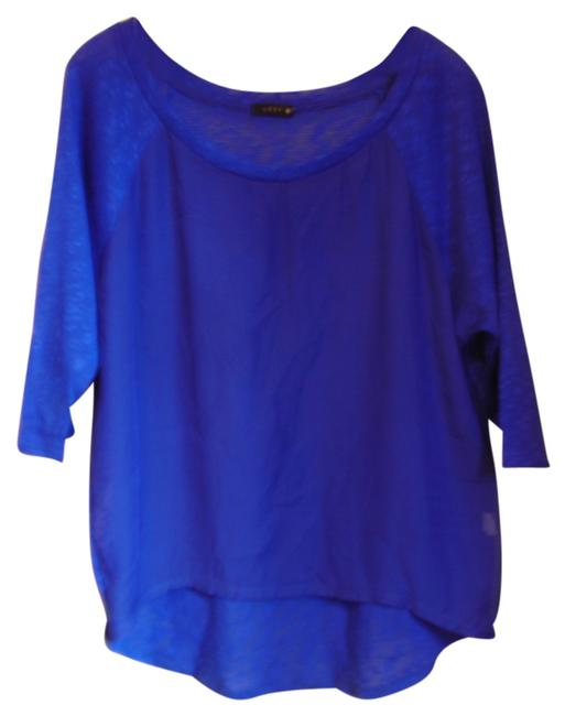 Preload https://item1.tradesy.com/images/modern-edge-blue-sheer-highlow-blouse-size-12-l-5290510-0-0.jpg?width=400&height=650