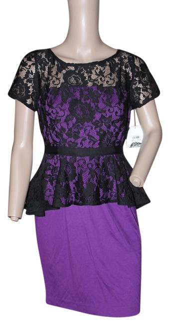 Preload https://item3.tradesy.com/images/donna-morgan-black-and-purple-special-occassion-short-cocktail-dress-size-4-s-5290522-0-0.jpg?width=400&height=650