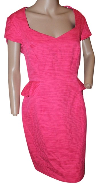 Preload https://img-static.tradesy.com/item/5290558/donna-morgan-dark-pink-knee-length-workoffice-dress-size-12-l-0-0-650-650.jpg