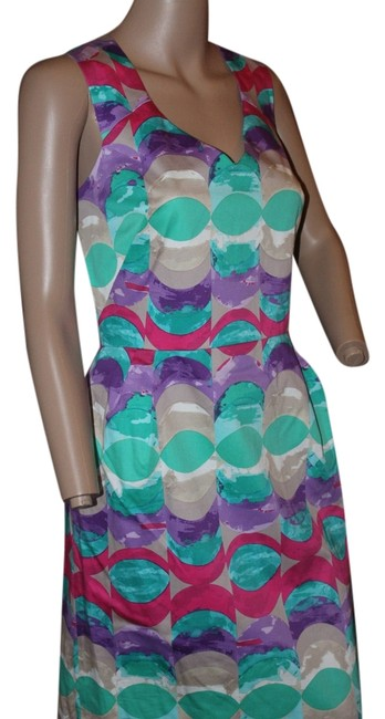 Preload https://item4.tradesy.com/images/donna-morgan-bright-green-purple-pink-and-tan-short-workoffice-dress-size-8-m-5290618-0-0.jpg?width=400&height=650