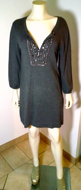 Style & Co short dress gray Co. Size Medium Stretchy on Tradesy