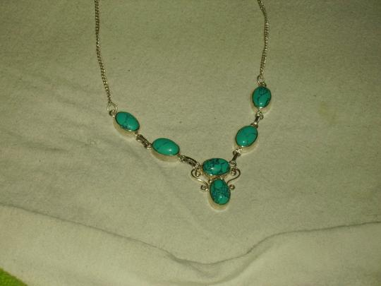 Other New Sterling Silver Plated and Turquoise-look Necklace