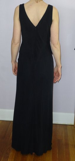 Michelangelo Black Satin with Sequins Formal Bridesmaid/Mob Dress Size OS