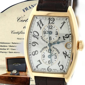 Franck Muller Authentic Franck Muller Master Banker 2852MB 18k Gold Triple Time Watch with Original Box and Papers