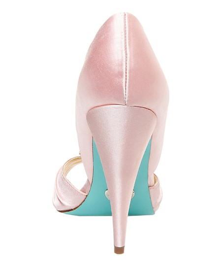 Betsey Johnson Blue By Gia Gia Gia Heel Heels Satin Size 7 Pink Pumps