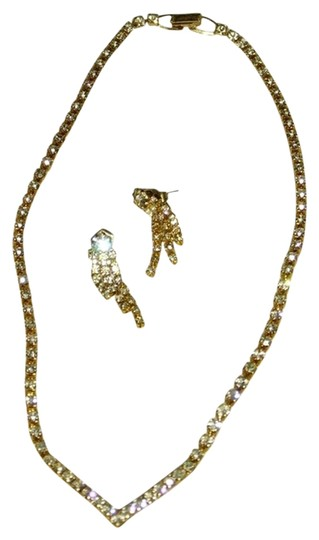 Other Golden Formal necklace and Earrings set