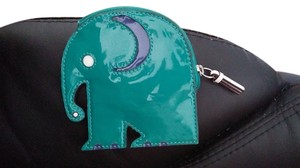 Coach Patent Leather Elephant green Clutch