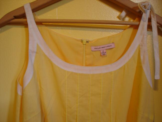 Philip Decaprio short dress yellow Summer Spring Pleating Lined on Tradesy