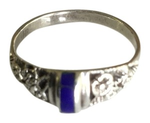 Sterling silver and blue lapis dainty ring