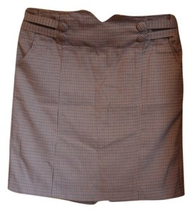 Lux Houndstooth Skirt multi