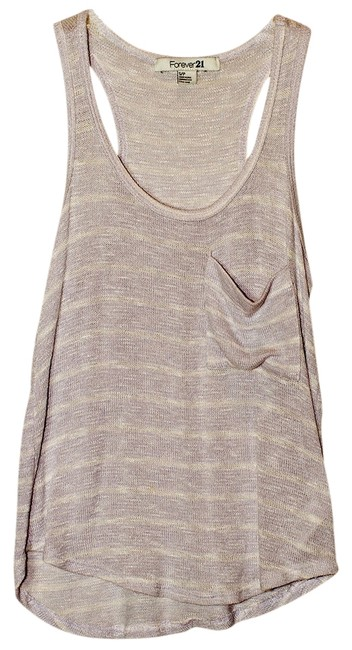 Preload https://item1.tradesy.com/images/forever-21-lavenderwhite-tank-topcami-size-4-s-529145-0-0.jpg?width=400&height=650
