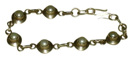 Other Silver Tone and Pearl-look Bracelet