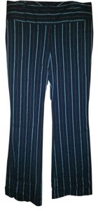 Bisou Bisou Trouser Pants Black pinstripe