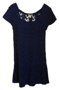 Kensie short dress blue Sweater on Tradesy