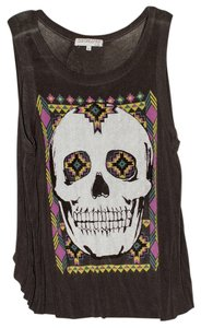 Urban Outfitters T Shirt Gray/Multicolored Skull