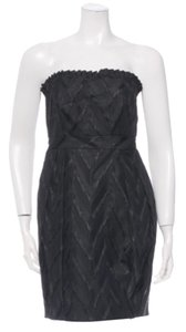 Alice + Olivia Strapless Chevron Jacquard Dress