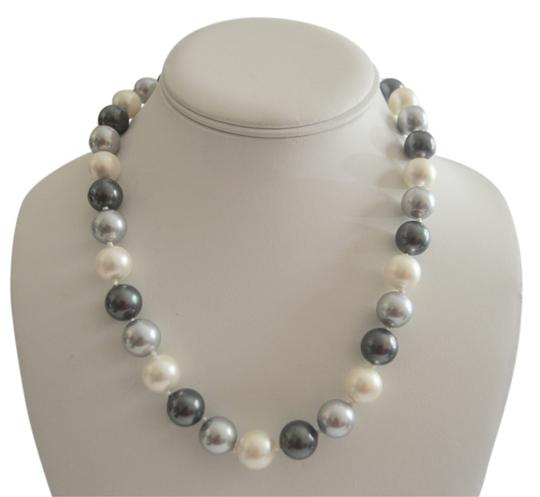 Pearlfection Pearlfection Tuxedo Faux South Sea Pearl Necklace 18""