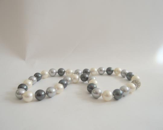 Pearlfection Pearlfection Tuxedo Faux South Sea Pearl Necklace 18