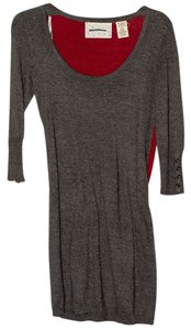 Coincidence & Chance short dress Gray/Maroon Sweater on Tradesy