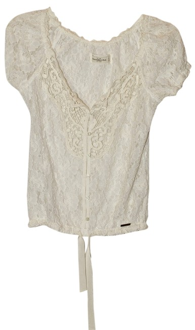 Abercrombie & Fitch Top White Lace
