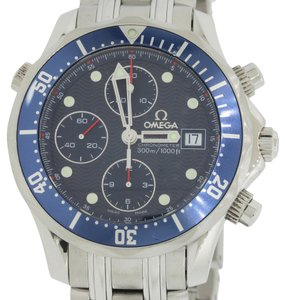Omega Authentic Seamaster Professional Stainless Steel 2225.80 Automatic Chronograph 42mm Watch