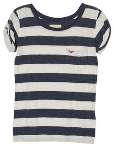 Hollister T Shirt Navy/White