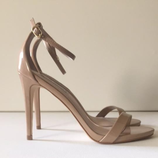 Steve Madden Stecy Stacy Sexy Heel Heels Patent Leather Size 9 Nude Sandals